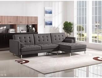 "Diamond Sofa Opus 33"" Right Hand Facing Sleeper Sectional Upholstery Color: Grey"