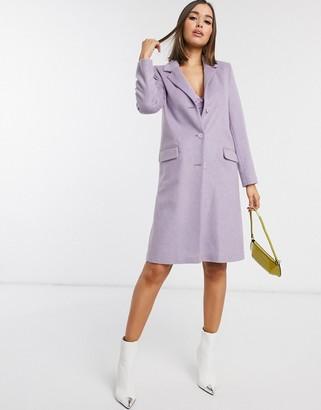 Helene Berman tailored coat in lilac