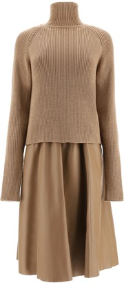 Drome Leather Dress With Sweater