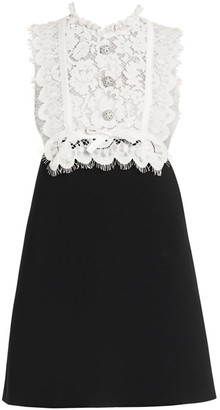 Miu Miu Lace-Trim Bodice Mini Dress