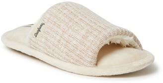 Dearfoams Womens Lane Knit Slide Slippers