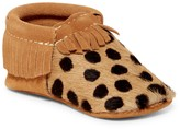 First Steps Suede & Genuine Calf Hair Moccasin (Baby & Toddler)