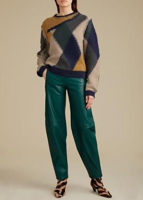 KHAITE The Emma Pant in Hunter Green Leather