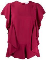 RED Valentino ruffled short-sleeved blouse