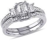 Concerto 1CT Diamond 14K White Gold Three-Stone Bridal Set