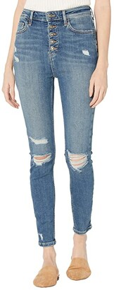 Free People Sabrina Super Skinny (Mid Indigo) Women's Jeans