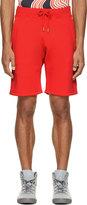 Christopher Kane Red Fleecy Shorts
