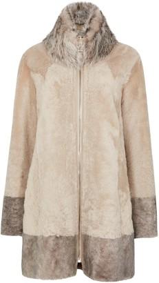 Dom Goor Almond reversible leather coat