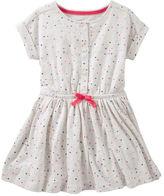 Osh Kosh Henley Heart Print Dress