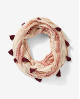 Express Tassel Trim Loop Scarf