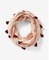 Express tassel trim loop scarf