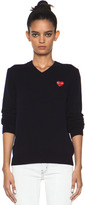 Comme Des Garcons PLAY Red Heart Emblem Sweater in Navy