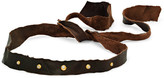 Logan Hollowell - New! Star Set Gold And Diamond Dark Brown Leather Wrap 7395926595