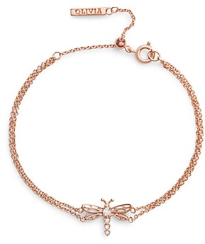 Olivia Burton Dancing Dragon Crystal Sliding Bead Chain Bracelet