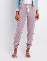Charlotte Russe Lace-Up Drawstring Jogger Pants