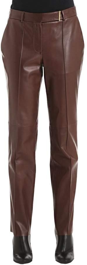Salvatore Ferragamo Natural Leather Pants