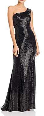 Aqua One-Shoulder Sequin Gown - 100% Exclusive