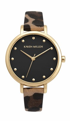 Karen Millen Women's Analogue Quartz Watch with PU Strap KM189TG