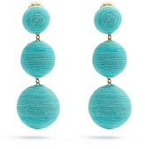 REBECCA DE RAVENEL Corded-silk drop clip-on earrings