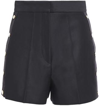Sandro Alon Button-detailed Cotton-blend Twill Shorts