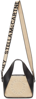 Stella McCartney Beige Sherpa Mini Logo Crossbody Tote