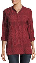 Johnny Was Zigzag Popover Tunic