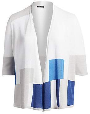 NIC + ZOE, Plus Size NIC + ZOE, Plus Size Women's Coast To Coast Open Front Knit Cardigan