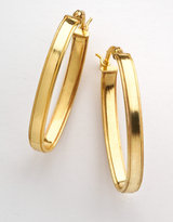 LORD & TAYLOR 18 Kt. Gold-Plated Long Oval Hoop Earrings