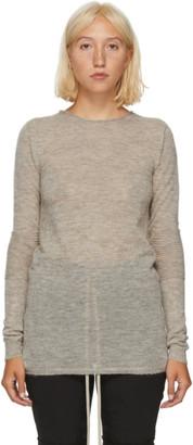 Rick Owens Beige Alpaca Sweater