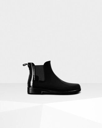 Hunter Women's Refined Gloss Slim Fit Chelsea Boots