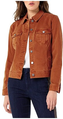 Liverpool Classic Denim Jacket in Stretch Slub Twill (Tamarind) Women's Coat