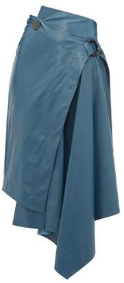 Petar Petrov Raisa High-rise Leather Skirt - Womens - Blue