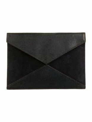 Christian Dior Leather & Suede Envelope Clutch Navy