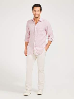 Gramercy Classic Fit Linen Shirt in Stripe