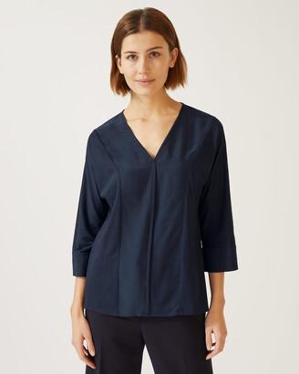 Jigsaw Silk Viscose Front Kimono Top
