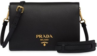 Prada Foldover Top Shoulder Bag