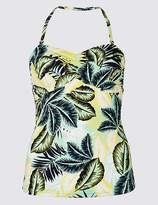 Marks and Spencer Palm Print Tankini Top