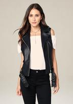 Bebe Belted Moto Vest