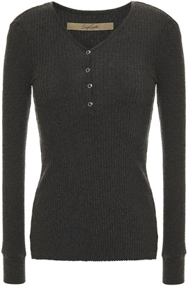 Enza Costa Ribbed Cotton And Cashmere-blend Jersey Top