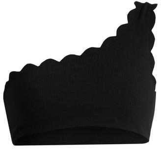 Marysia Swim Santa Barbara Scallop-edged Bikini Top - Black