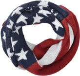 Simplicity Unisex American Flag Knit Infinity Loop Circle Scarf