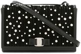 Salvatore Ferragamo 'Jenny' studded pearl bag - women - Cotton/Patent Leather/metal - One Size