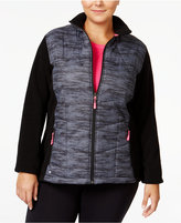 Ideology Plus Size Space-Dyed Fleece Jacket, Only at Macy's