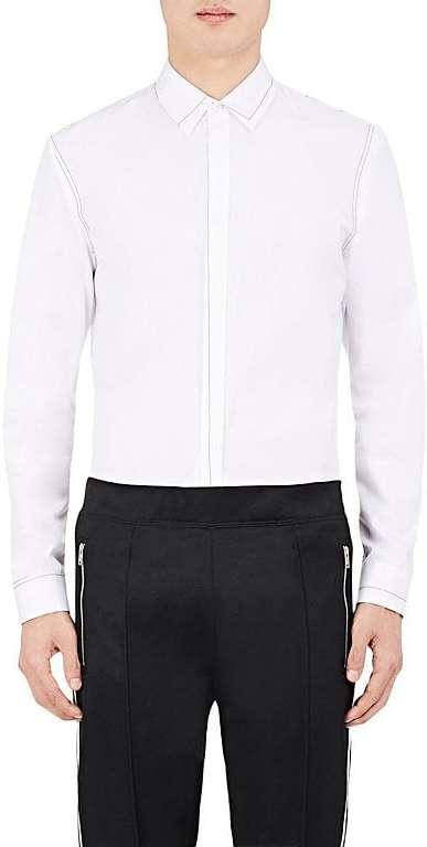 Maison Margiela Men's Topstitched Cotton Slim Fit Shirt
