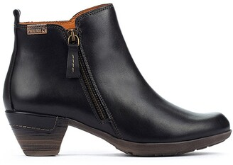 PIKOLINOS Rotterdam Leather Ankle Boots with Chunky Heel