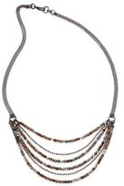 Peserico Layered Beaded Long Chain Necklace