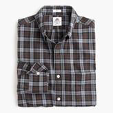 J.Crew Slim Thomas Mason® for flannel shirt in brown plaid