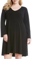 Karen Kane Plus Size Women's 'Taylor' Long Sleeve A-Line Dress