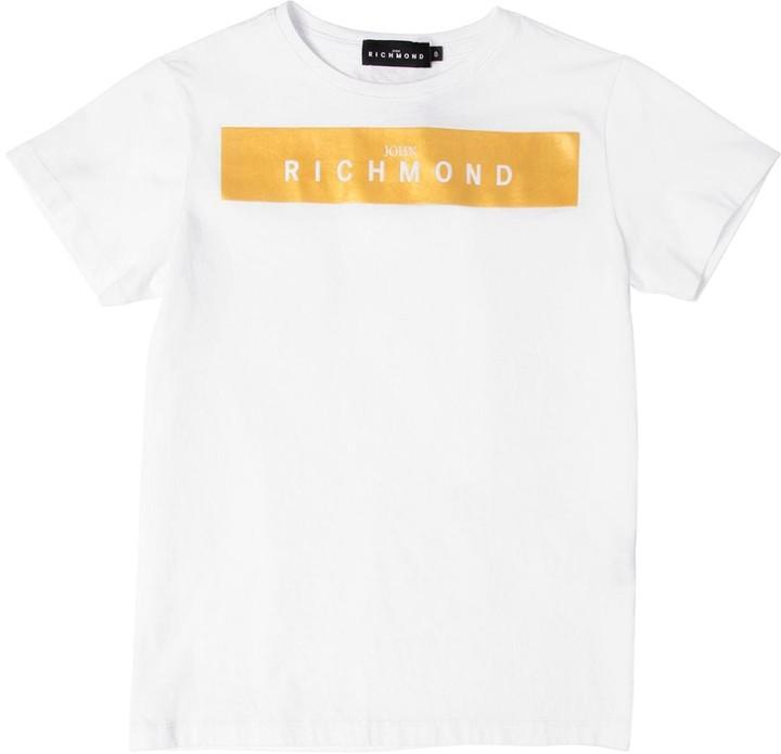 John Richmond ロゴプリント コットンジャージーTシャツ