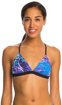 Speedo Turnz Photowave Printed Tie Back Bikini Swimsuit Top 8146380